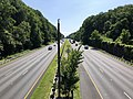 2019-07-12 10 30 01 View northeast along Interstate 495 (Capital Beltway) from the overpass for Greentree Road on the edge of Bethesda and North Bethesda in Montgomery County, Maryland.jpg
