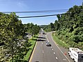 2020-08-18 11 25 24 View west along the westbound lanes of Maryland State Route 704 (Martin Luther King Junior Highway) from the overpass for Maryland State Route 202 (Landover Road) in Landover, Prince George's County, Maryland.jpg
