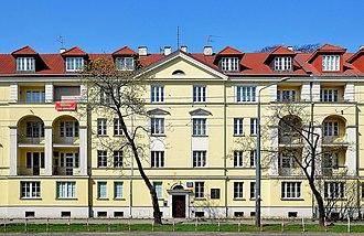 Wilm Hosenfeld - House at 223 Niepodległości Avenue in Warsaw where Wilm Hosenfeld helped Władysław Szpilman