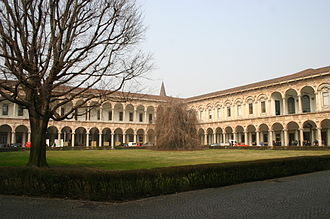 Zone 1 of Milan - Cloister of the main building of the University of Milan.