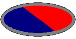 2/10th Field Regiment (Australia) - Image: 2 10th Field Regiment RAA Unit Colour Patch