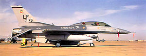 """312th Tactical Fighter Training Squadron - 312th Tactical Fighter Training Squadron F-16D marked as """"F-16D No. 1"""""""