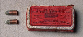 .32 rimfire - Image: 32 Rim Fire UMC Cartridges