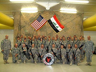 34th Infantry Division Band - 34th Infantry Division Band at COB Basra, Iraq while deployed in support of the Iraq War in 2009.