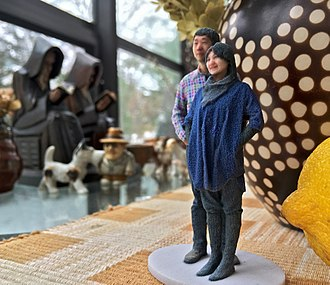 3D printing marketplace - A 3D selfie in 1:20 scale printed by Shapeways using gypsum-based printing