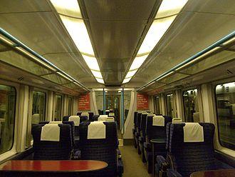 British Rail Class 460 - The interior of First Class aboard the Gatwick Express Class 460