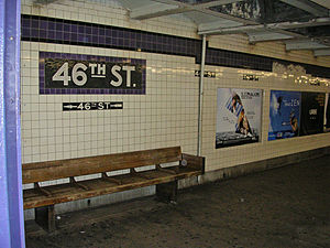 46th Street (IND Queens Boulevard Line) - A mosaic at 46th Street