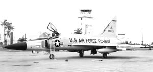 Washington Air Defense Sector - 482d Fighter-Interceptor Squadron Convair F-102A-90-CO Delta Dagger 57-823, Washington Air Defense Sector, Seymour Johnson AFB, North Carolina, October 1962, Deployed at Homestead AFB, Florida during Cuban Missile Crisis