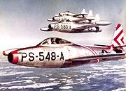 49th Fighter Squadron Republic F-84B-21-RE Thunderjet 46-548