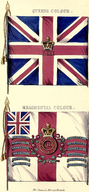 53rd (Shropshire) Regiment of Foot - Colours of the 53rd Regiment