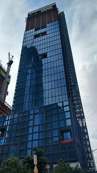 55 Hudson Yards - Construction progress in September 2017