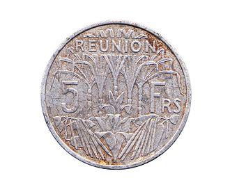 Réunion franc - 5 Francs coin of 1955