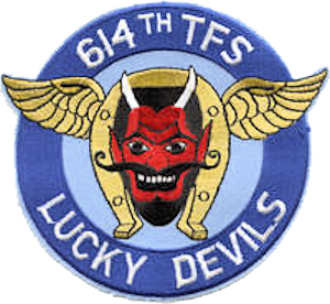 614th Tactical Fighter Squadron - Emblem of the 614th Tactical Fighter Squadron