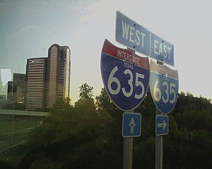 English: Cameraphone picture of Interstate 635...