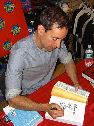 Blankets (comics) - Craig Thompson sketches Raina in a copy of the book at a September 20, 2011 book signing at Midtown Comics in Manhattan.