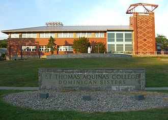 St. Thomas Aquinas College - The campus of St. Thomas Aquinas College, showing Costello Hall in the background.