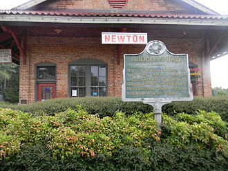 Newton station (Mississippi) - The historic Alabama and Vicksburg Railroad Depot in Newton, Mississippi