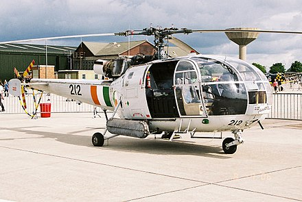 Irish Air Corps SA-316B Alouette III, 212 from 3 Operations Wing at RNAS Yeovilton in July 2006 Aerospatiale SA 316B at RNAS Yeovilton.jpg
