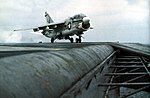 A-7E Corsair II of VA-82 launching from USS Nimitz (CVN-68), circa in 1978.jpg