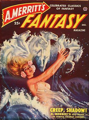 A. Merritt's Fantasy Magazine - The December 1949 issue of A. Merritt's Fantasy Magazine; cover art by Peter Stevens.