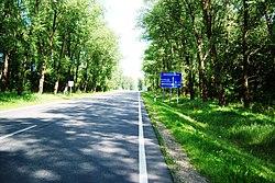 A6 (E262 )kelio 97 km ties Kurkliais, Anykščių raj.jpg