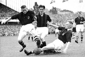 AIK Fotboll - AIK playing against Milan in 1950