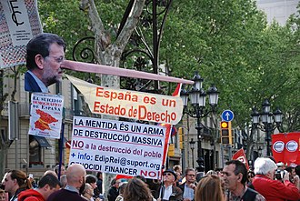 Mariano Rajoy - Anti-TTIP protests in Barcelona, 18 April 2015