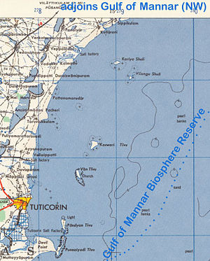 Gulf of Mannar Marine National Park - Topographic Map (SW)