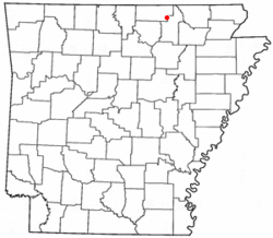 Location of Cherokee Village, Arkansas