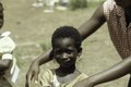 ASC Leiden - F. van der Kraaij Collection - 01 - 005 - Saye Town. An elementary school girl wearing earrings - Monrovia, Sinkor, Montserrado County, Liberia, 1976.tiff