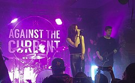 Against the Current auf einem Konzert am 3. November 2015 in San Francisco