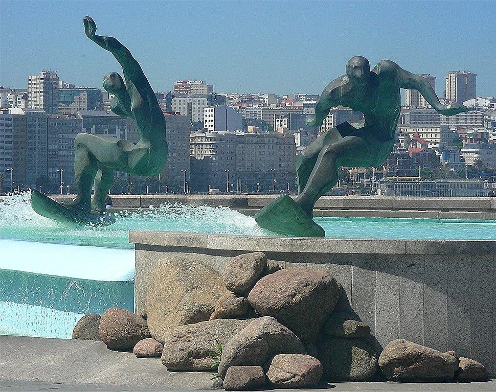 A Coruña. Surf no Orzán
