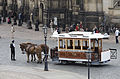 A Horse Drawn tram in front of the Cathedral, Dresden - 1377.jpg