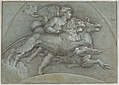 A Winged Putto Riding a Sea Horse and a Lion (after Raphael); verso; The Three Graces (after Raphael) MET DP855018.jpg