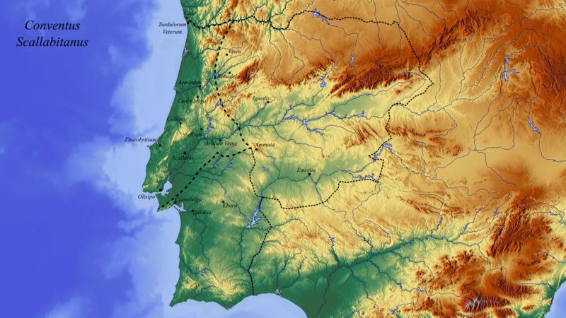 File:A broad interpretation of the borders of Conventus Scallabitanus and the Lusitania Province (Interpretation Nº1).png