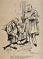 A doctor telling an overweight patient (who mishears him) th Wellcome V0011515.jpg