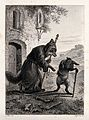 A fox dressed as a monk is greeting a passing hare with a wa Wellcome V0023065EL.jpg
