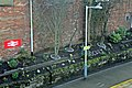 """A higher view of the """"Rocket"""" garden, Rainhill railway station (geograph 3819300).jpg"""
