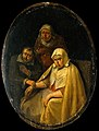 A man taking a woman's pulse. Wellcome V0017255F2.jpg