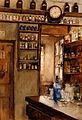 A pharmacy; interior. Watercolour by Lucy Pierce. Wellcome V0017152.jpg
