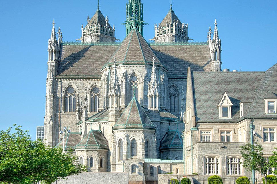 A rare sight - a rear view as nice as the front. Sacred Heart Cathedral, Newark