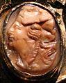 Aachen, busto-reliquiario di carlo magno, con corona di fattura forse praghese, post 1349, 15 menade.jpg