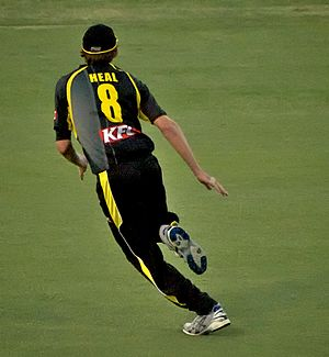 Aaron Heal - Heal fielding during the 2009-10 KFC Twenty20 Big Bash