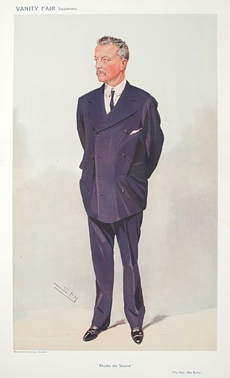 Abe Bailey - Vanity Fair caricature by Spy (1908)