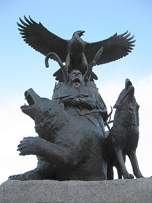 Confederation Park - Monument to aboriginal War veterans in the park