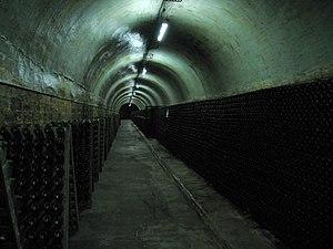 Russian wine - Cellar in the Abrau-Durso winery, Novorossiysk
