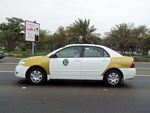 Taxi in Abu Dhabi / U.A.E.
