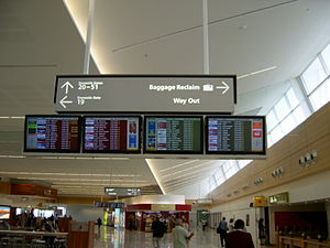 Adelaide Airport - Main concourse terminal one, 2006