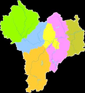 Quzhou - Image: Administrative Division Quzhou