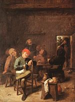 Adriaen Brouwer - Peasants Smoking and Drinking - Alte Pinakothek.jpg